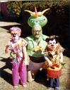 Jerry celebrates Halloween with his two children