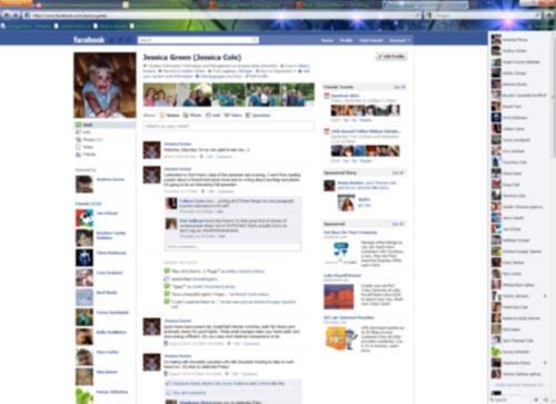 Capturing my Facebook Profile