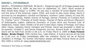 Obituary for David Lee Fitzgerald