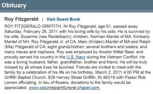 Obituary for Roy Fitzgerald