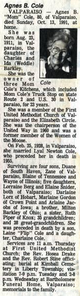 Obituary for Agnes Cole