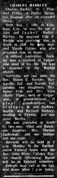 Obituary for Charles Barkley