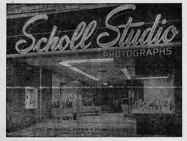 Scholl Studio Photographs, 1563 Milwaukee Ave, Chicago