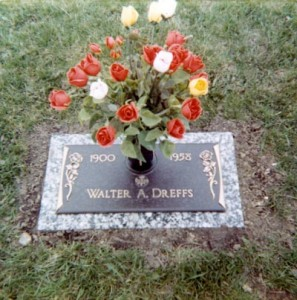 Grave of Walter Anthony Dreffs (Taken February 1972)