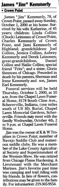Obituary for James Kemmerly
