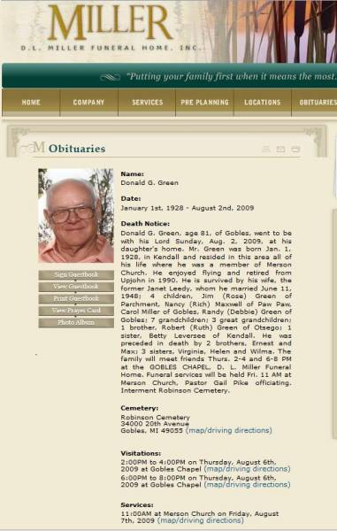 Obituary for Donald Green
