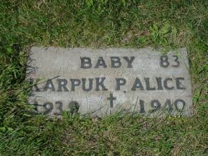 Baby P. Alice Karpuk