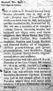 Obituary for Mary Heward
