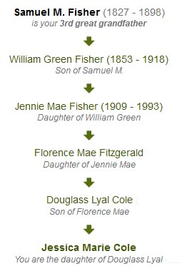 Lineage for the Fisher Surname (Fitzgerald Side)
