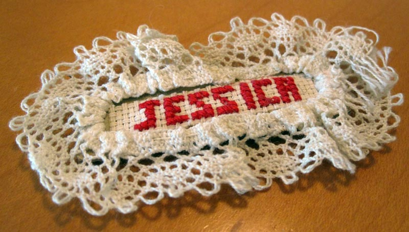 Jessica Cross Stitch Magnet