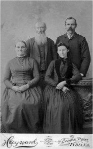 Richards Family Portrait: Ann, Benjamin, May, and Frank