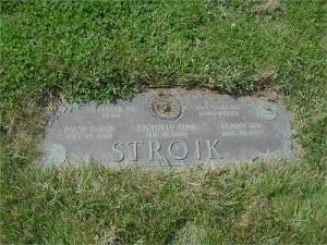 Gravesite for the Stroik Girls