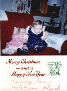 Merry Christmas from Tammy and Dawn Stroik (1964)