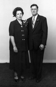 Wedding Portrait for Mary and Walter Dreffs (November 1951)